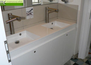 Cafeteria U Kanovníků on the III. courtyard of Prague Castle_white countertops with integrated washbasin FLexible 60_Massive42 washbasins