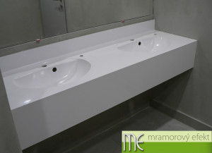 CIIRC CVUT Praha_countertops Flexible47 with integrated oval washbasins FJORD50