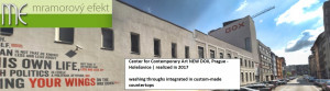 Center for Contemporary Art NEW DOX, Prague - Holešovice | realized in 2017 washing throughs integrated in custom-made countertops