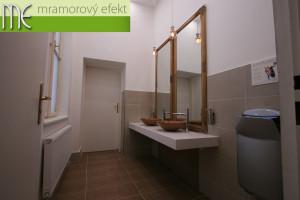 Darkov Spa_Karvina_custom made white countertops under washbasins 2017